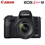 Canon キヤノン ミラーレス一眼カメラ EOS Kiss M EF-M18-150 IS STM レンズキット EOSKissM-18150LK-BK ブラック
