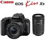 キヤノン デジタル一眼レフカメラ EOS Kiss X9 ダブルズームキット ブラック EOSKISSX9BK-WKIT CANON