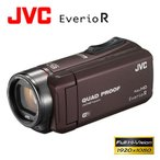 JVC ビデオカメラ エブリオR 防水 防塵 WiFi対応 ハイビジョンメモリームービー 64GB GZ-RX600-T ブラウン