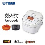 タイガー 3合炊き IH炊飯ジャー 炊飯器 炊きたて tacook JKU-A551-W ホワイト