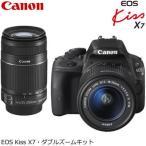 ショッピングEOS キヤノン デジタル一眼レフカメラ EOS Kiss X7 ダブルズームキット KISSX7-WKIT