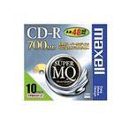 【在庫目安:あり】 Maxell CDR700S.1P10S データ用CD-R、記憶容量700MB、48倍速対応、1枚ずつプラケース入り10枚パック