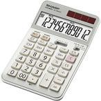 【在庫目安:お取り寄せ】SHARP  EL-N942C-X 実務電卓 12桁 (ナイスサイズタイプ) 高速早打ち対応 抗菌タイプ
