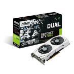 ASUS DUAL-GTX1060-O6G GeForce GTX 1060グラフィックボード ホワイトデュアルファンクーラー搭載