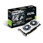 ASUS DUAL-GTX1050TI-4G 防塵ファン搭載ホワイトカラー GeForce GTX 1050 Ti搭載ビデオカード ホワイトカラー
