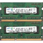 SAMSUNG PC3-10600S (DDR3-1333) 2GB x 2���Ȥ� ���4GB SO-DIMM 204pin �Ρ��ȥѥ������ѥ��� ư���ݾ���