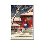 マウスパッド オリジナル 浮世絵 浮世絵マウスパッド 12007 川瀬巴水 - 上野清水堂の雪