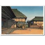 マウスパッド オリジナル 浮世絵 浮世絵マウスパッド 12015 川瀬巴水 - 農家の秋(宮城県愛子)