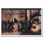 マウスパッド オリジナル 浮世絵 浮世絵マウスパッド 3001 葛飾応為 - 吉原格子先の図