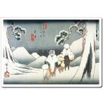 マウスパッド オリジナル 浮世絵 浮世絵マウスパッド 薄ぴた U1008 歌川広重 - 大井