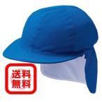 カラー帽子 (ブルー) 後頭部日差しガード付 メッシュ素材 (頭周り55〜60cm対応)