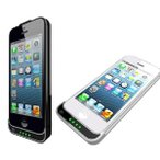 ≪iPhone5専用 充電・バッテリー内蔵ケース(2,200mAh)≫ (白)ホワイト  80gの軽量サイズ