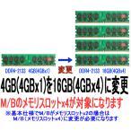 DDR4-2133 16GB(4GBx4)に変更