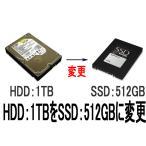 SSD:512GBに変更【HDD:1TB→SSD:512GB】