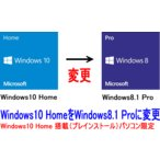 Windows8.1 Pro DSP版プレインストールに変更【Windows10 Home → Windows8.1 pro】