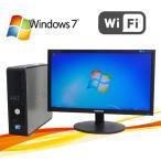 ショッピング中古 中古パソコン 無線LAN対応/DELL Optiplex 780SF/22型ワイド液晶/Core2Duo E8400-3Ghz/高速DDR3メモリ2GB/HDD160GB/Windows7 Pro(y-dtb-450)
