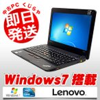 ショッピング中古 中古 ノートパソコン Lenovo ThinkPad X121e Core i3 3GBメモリ 11.6型ワイド Windows7 MicrosoftOffice2003