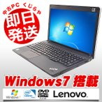ショッピング中古 中古 ノートパソコン Lenovo ThinkPad Edge E530 Celeron Dual-Core 4GBメモリ 15.6型ワイド DVDマルチドライブ Windows 7 MicrosoftOffice付(2010)