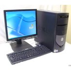 17型液晶セット GX270 メモリ1GB Kingsoftoffice2007 DVDスーパーマルチドライブ  WindowsXP Pro SHARP LL-173G-B  DELL OPTIPLEX GX270MT送料無料中古