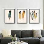 【30×40cm】アートパネル 枠付きフレーム絵画 水彩画風 カラフル フェザー 羽根 抽象画 鮮やか 壁掛け インテリア絵画 ウォールデコ