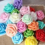 【5個以上送料無料】 フラワーヘッド スポンジ 薔薇 ウレタン素材 バラ フェイクフラワー 造花 ハンドメイド作品 イミテーション ディスプレイ
