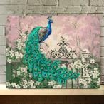 数字塗り絵 油絵風 孔雀 クジャク アジアンテイスト  大人の塗り絵 フレーム絵画 インテリア 風景 DIY 趣味 ぬり絵 ホビー ナンバーピクチャー