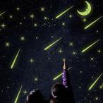 【3枚以上で送料無料】 夜光 流れ星 月 星 蓄光ステッカー 彗星 ウォールステッカー 壁デコレーション 北欧風 インテリアDIY