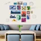 ウォールステッカー 切手 ビンテージ スタンプ アートステッカー インテリア 壁デコ 北欧風 DIY 剥がせる