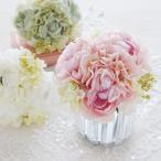 【北欧雑貨 薔薇雑貨】 造花 ピオニー ラベンダーピンク/ホワイト/グリーン 花束 アーティフィシャルフラワー