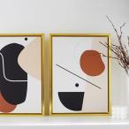 【倉庫出荷】アートポスター フレーム付き ゴールド 壁掛け おしゃれ かわいい 北欧 モダン インテリア