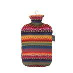 ファシー Fashy 湯たんぽ 2L Hot water bottle with cover in Peru design 6757 国内検針済