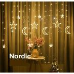 LED電飾 クリスマス イルミネーションライト 装飾ライト 3.5m スノーフレーク クリスマスツリー 星月 装飾 乾電池式 オーナメント 飾り 屋外 室内
