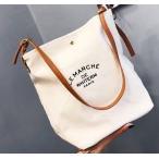 韓国カジュアル レディース 人気商品 白 ホワイト トートバッグ ショルダー キュート 白色