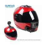 SUREWO ヘルメット カメラ マウント [ GoPro Hero 対応 ] 日本語説明書付 アゴ部分にも アクションカメラを取り付け固定 [ バ