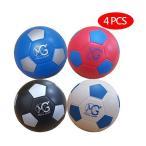 Macro Giant発泡ソフトカラフルなサッカーボール 15cm  直径  4個入り 基本色 初心者 親子インタラクション