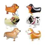動物のバルーンを歩くペットの犬のバルーン - 6個の子犬犬の誕生日パーティー用品キッズバルーン動物のテーマの誕生日パーティの装飾