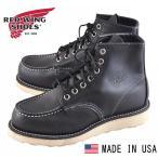 ショッピングused 美USED / 2006年 USA製 / REDWING レッドウイング / 8179 / アイリッシュセッター / モックトゥワークブーツ / ブラック レザー / JPN22.0cm ワイズE
