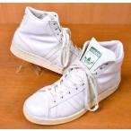 ヴィンテージ 1980年代後半〜1990年初期 モロッコ製 adidas アディダス Century Hi センチュリー ハイ ホワイト レザー JPN25.0cm〜25.5cm