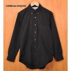 フランス製 COMME des GARCONS SHIRT コム・デ・ギャルソン シャツ コットン ボタンダウン 長袖シャツ ブラック