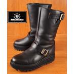 インランド製 GEORGECOX ジョージコックス Ripple Sole Engineer Boots 7409 シャークソール ウェッジソール 厚底 レザー UK9 JPN27.5cm〜28.0cm