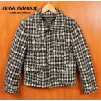 日本製 JUNYA WATANABE COMME des GARCONS ジュンヤワタナベ コム・デ・ギャルソン GORE WINDSTOPPER ウールジャケット チェック柄 レディースM