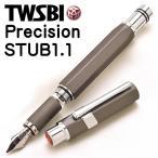 ショッピング万年筆 万年筆 吸入式 / TWSBI(ツイスビー) 万年筆 Precision PM7446240 ガンメタル スタブ 287FPM7446240 (11200)