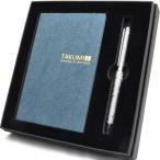 ボールペン スワロフスキー IWIギフトセット紺 (クリスタル キャンディバー ボールペン + TAKUMI 和紙ノートブック紺 ) IWI9S521Z5C5G