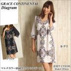 グレースコンチネンタル ワンピース マルチカラー刺繍カフタンワンピース Grace Continental ダイアグラム Diagram