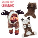 犬 服 犬服 小型犬 クリスマスウエア トナカイ 着ぐるみ カバーオール つなぎ ドッグウエア コスプレ XS S M L XL