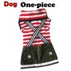 犬 服 犬服 小型犬 マリン ワンピース ドッグウエア S M L レッド