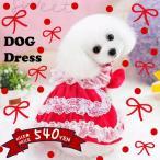 犬 服 犬服 小型犬 レース付き エレガント ワンピース ドッグウエア XS S M L レッド