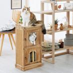 扉付きBOX 全高74.5cm キャットタワー 据え置き おしゃれ 部屋 猫用品 ペットグッズ