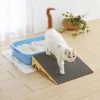 にゃんこスロープ シングル シニア 老齢猫 介護 介助 ペットグッズ ダンボール 猫 猫用品 猫用