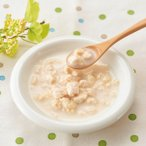 ヤギミルクでコトコト煮込んだやわらか国産お肉スープ。